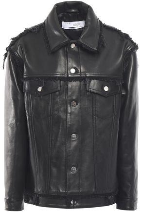 IRO Else fringe-trimmed leather jacket