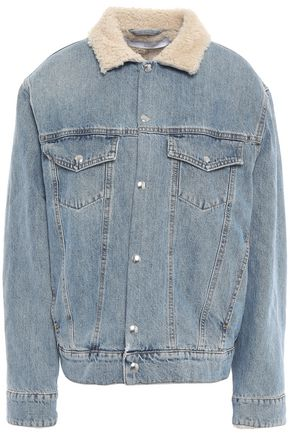 IRO Gravity shearling-lined denim jacket