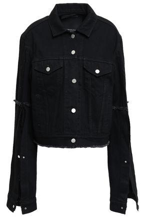 ROKH Frayed denim jacket