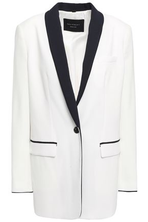EQUIPMENT Two-tone crepe blazer