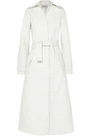 GABRIELA HEARST Silveira croc-effect leather trench coat