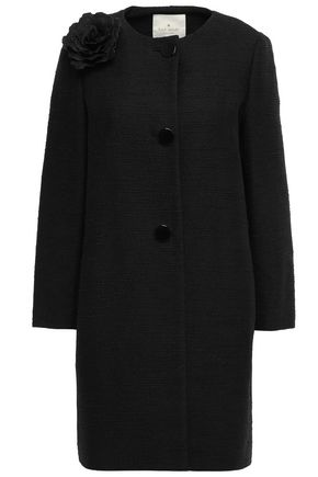 KATE SPADE New York Appliquéd cotton-blend coat