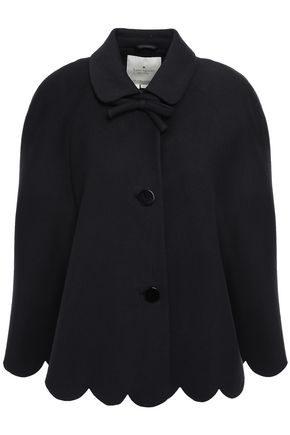 KATE SPADE New York Bow-detailed twill cape