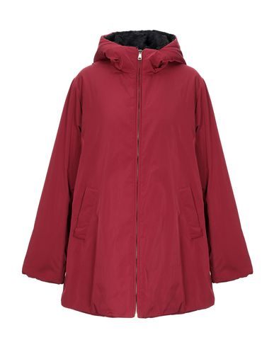 Купить Женское пальто или плащ BLUE LES COPAINS красно-коричневого цвета
