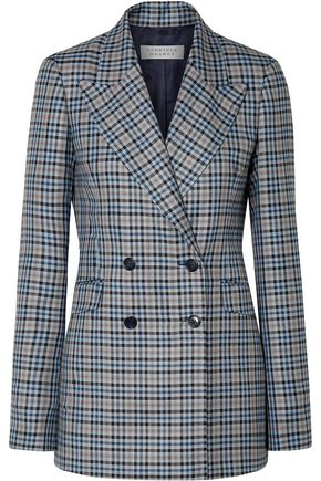 GABRIELA HEARST Angela checked silk and wool-blend blazer