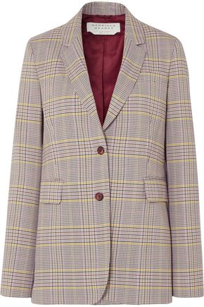GABRIELA HEARST Sophie checked wool-blend blazer