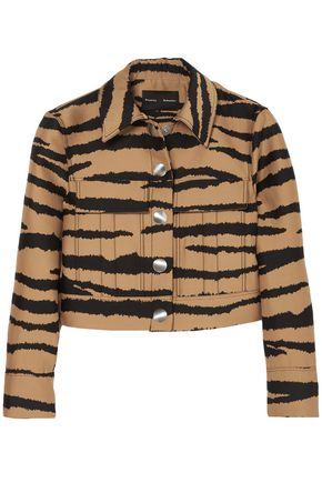 PROENZA SCHOULER Tiger-print wool and silk-blend jacquard jacket