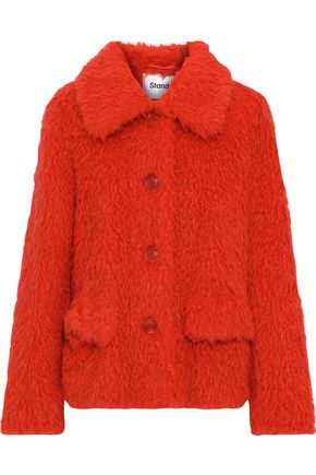 STAND STUDIO Noemie faux shearling coat