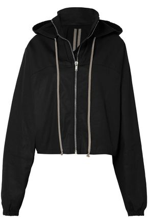 DRKSHDW by RICK OWENS Cotton-blend hooded jacket