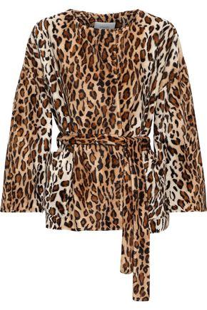 STAND STUDIO Aria Leo leopard-print faux fur jacket