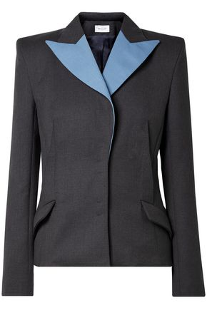 MUGLER Two-tone wool blazer