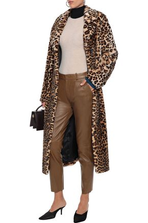 Stand Studio Nicky Leopard-print Faux Fur Coat In Animal Print