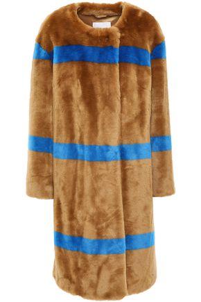 STAND STUDIO Idette striped faux fur coat
