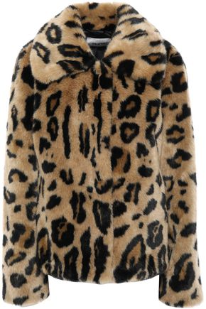 STAND STUDIO Leopard-print faux fur coat