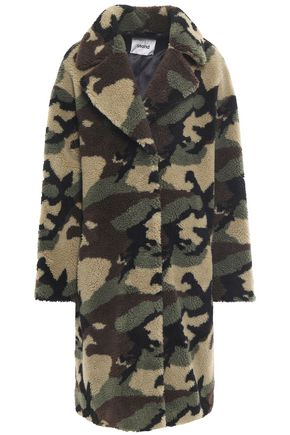 STAND STUDIO Printed faux shearling coat