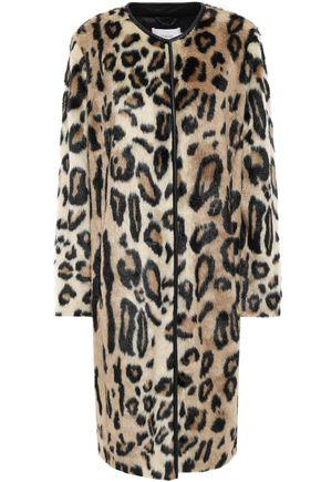 STAND STUDIO Leopard-print faux fur jacket