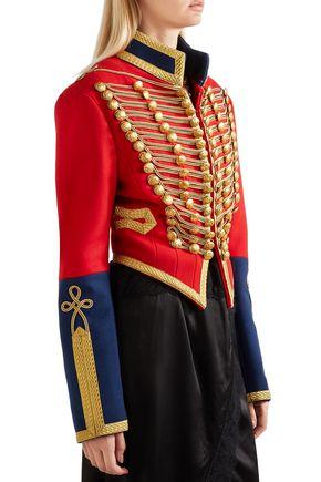 BURBERRY 装飾付き ウールフェルト ジャケット