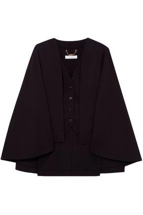 CHLOÉ Cape-effect wool-blend vest