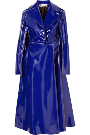 MARNI Faux patent-leather trench coat