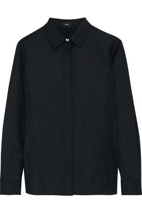 THEORY Wool-twill shirt
