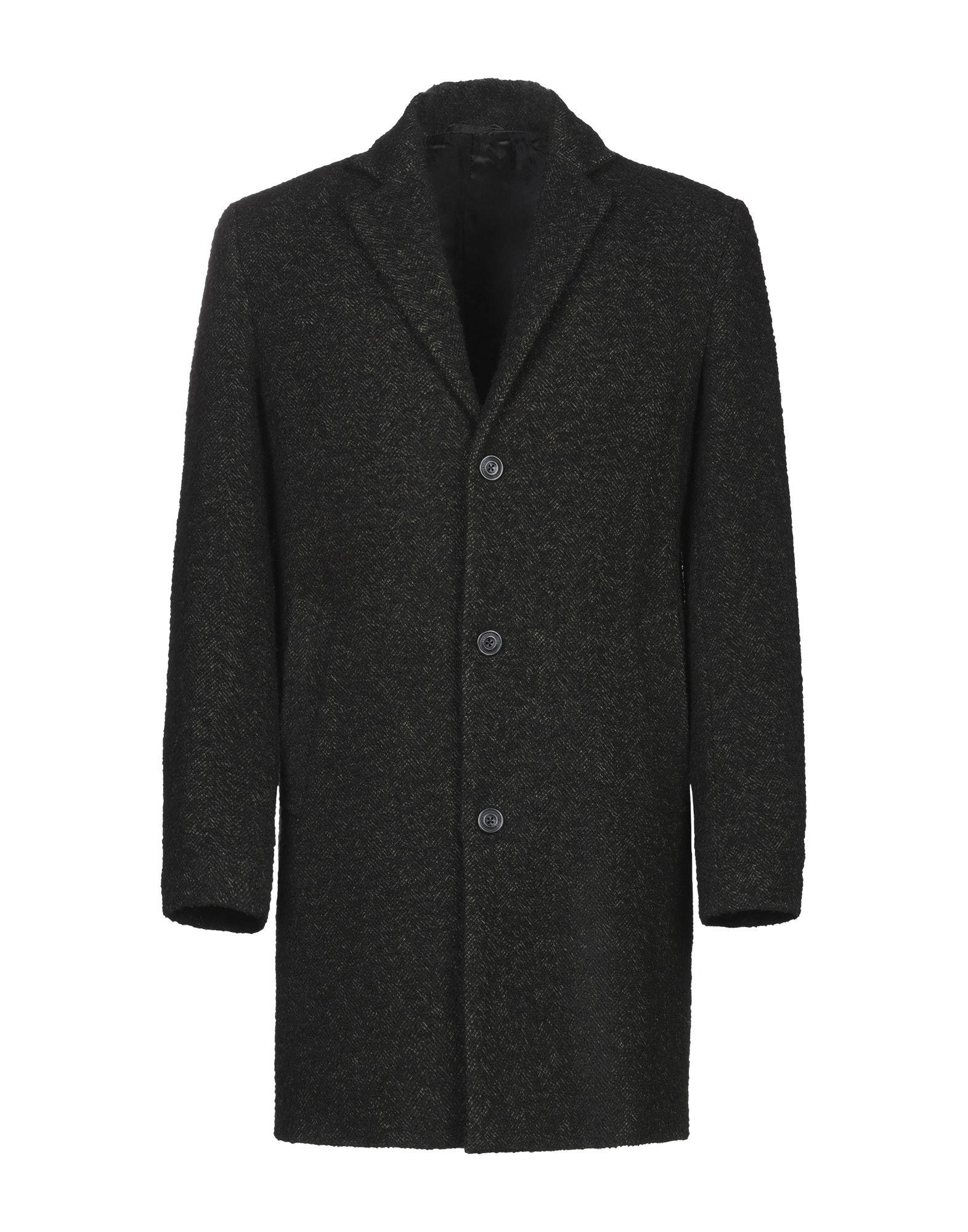 《期間限定セール開催中!》TRUSSARDI JEANS メンズ コート ブラック 48 ウール 47% / ポリエステル 28% / アクリル 19% / ナイロン 6%