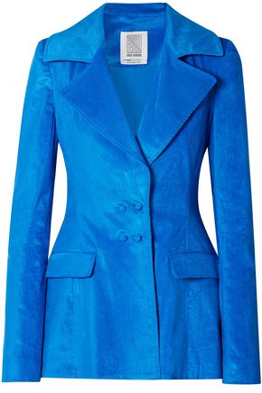 ROSIE ASSOULIN Double-breasted cotton-blend chenille blazer