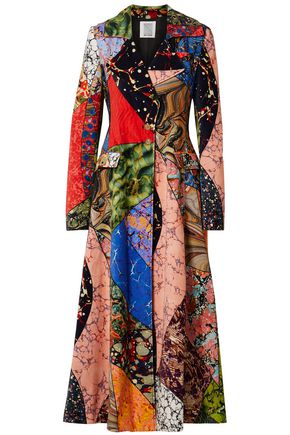 ROSIE ASSOULIN Printed cotton-velvet coat