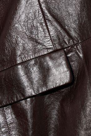 THEORY Cracked-leather coat