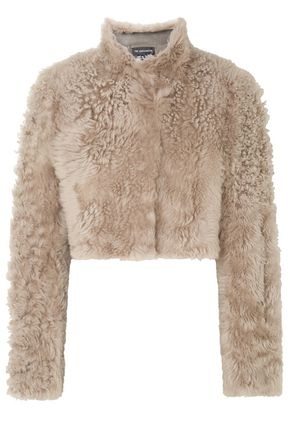 ANN DEMEULEMEESTER Cropped shearling jacket