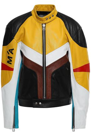 MARQUES' ALMEIDA Color-block leather bomber jacket