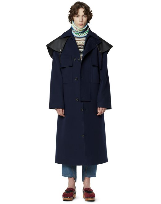 LONG DOUBLE-SIDED COAT - Lanvin