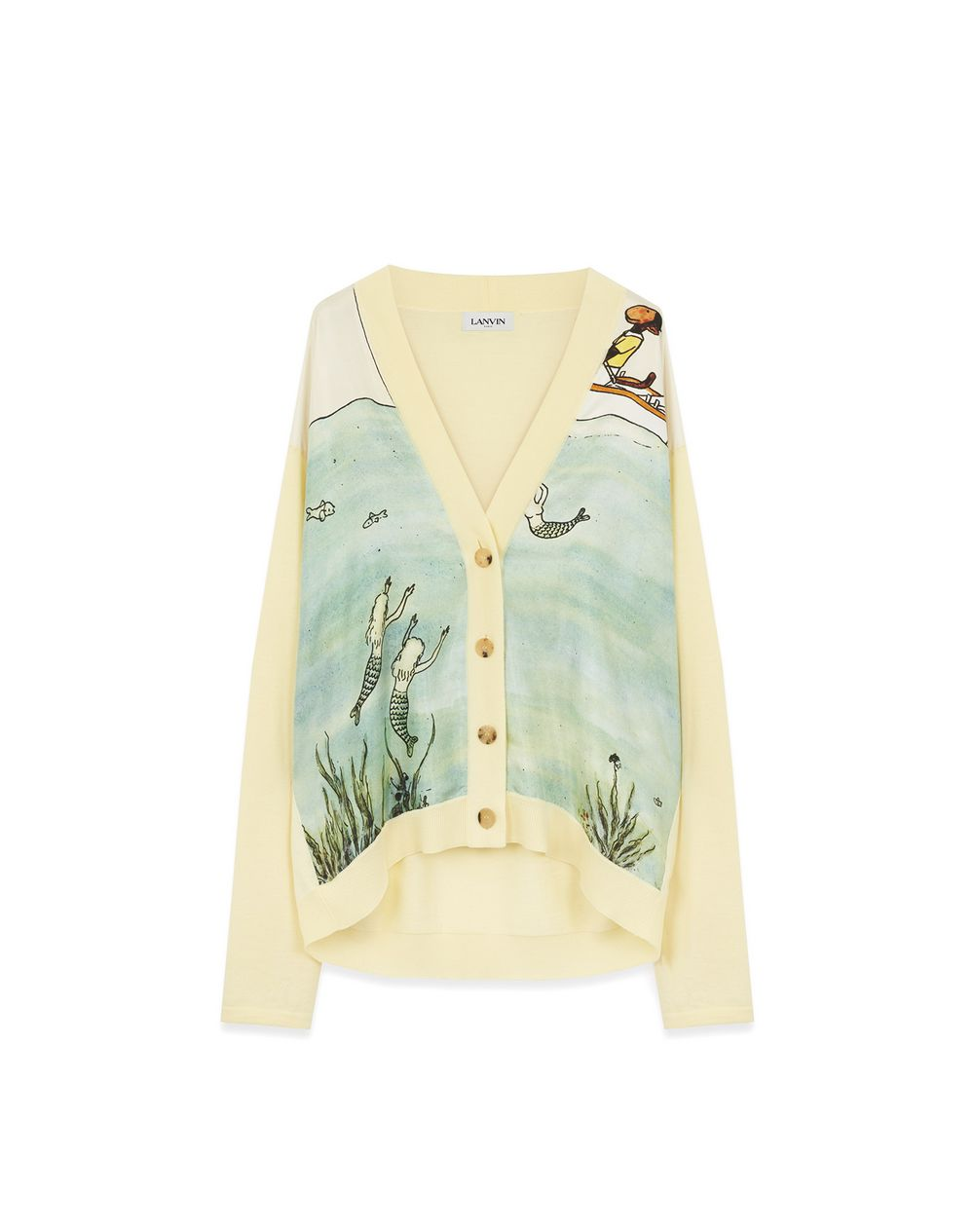 PRINTED WOOL AND SILK CARDIGAN - Lanvin