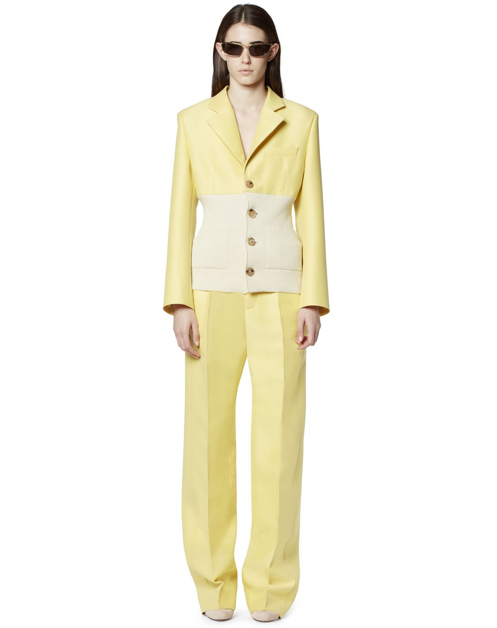 TAILORED DUAL-MATERIAL JACKET - Lanvin