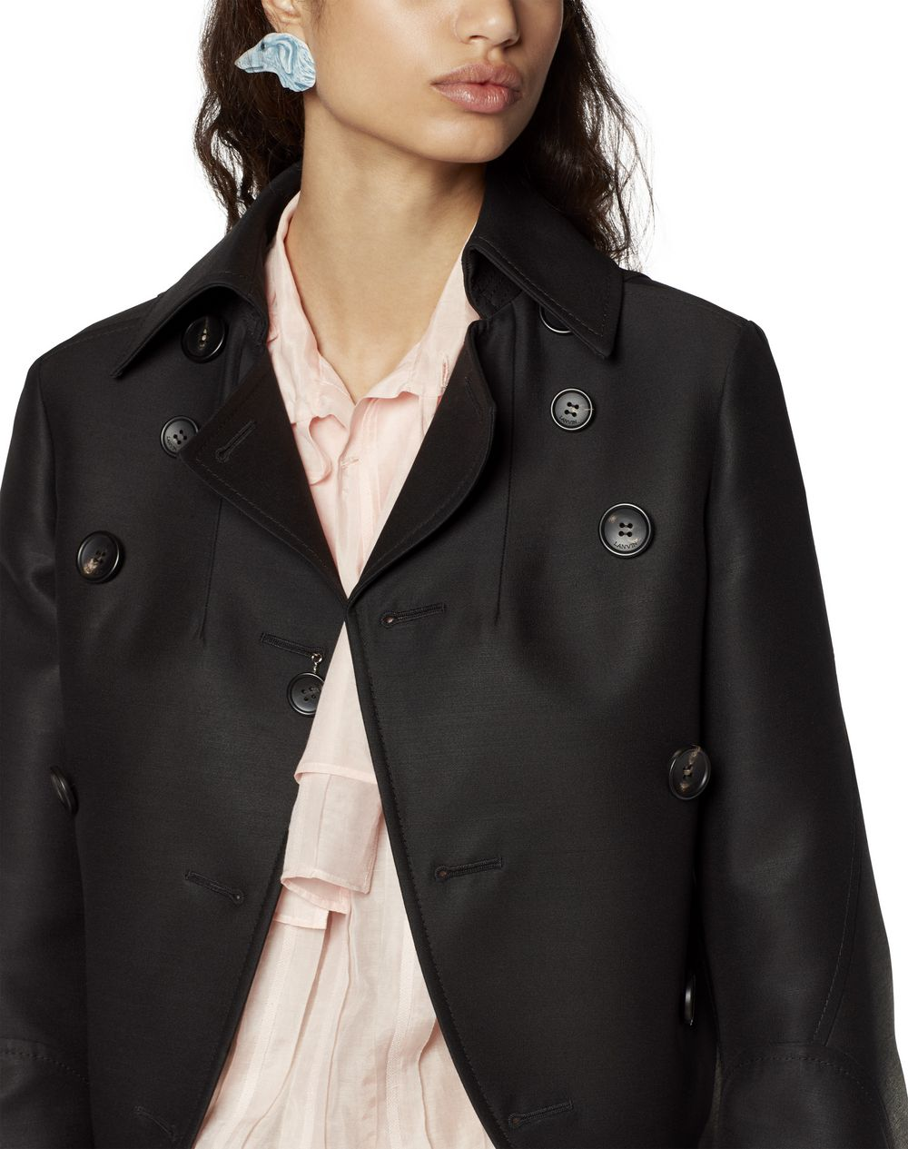 SHORT WOOL AND SILK JACKET - Lanvin
