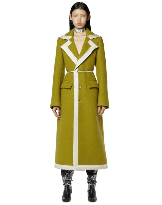 LONG BELTED WOOL COAT - Lanvin