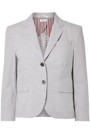 THOM BROWNE Cotton-seersucker blazer