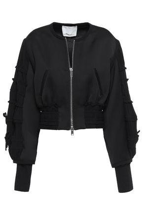 3.1 PHILLIP LIM Bow-detailed satin-crepe bomber jacket