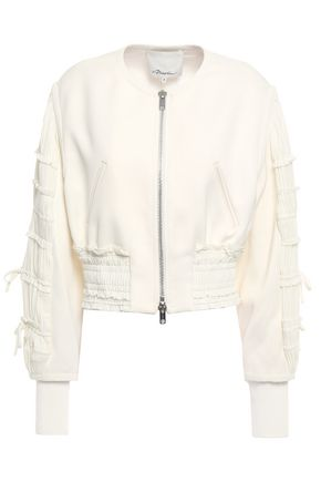 Shirred Satin Crepe Bomber Jacket by 3.1 Phillip Lim