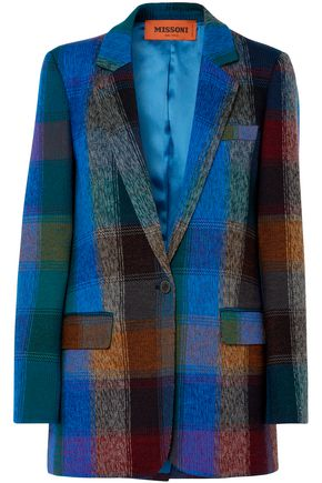 MISSONI Checked wool-blend blazer
