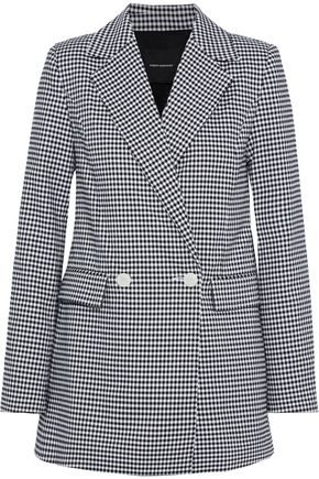 ROBERT RODRIGUEZ Lexy double-breasted gingham jacquard blazer