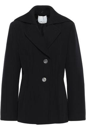 3.1 PHILLIP LIM Ribbed knit-paneled wool-twill jacket