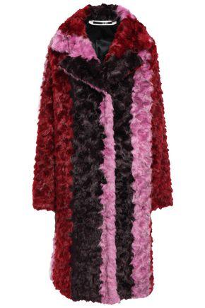 McQ Alexander McQueen Striped faux fur coat