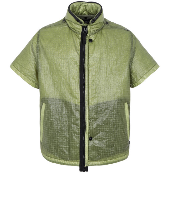 STONE ISLAND SHADOW PROJECT 40303 FRAG COLLAR VEST WITH STOWABLE SPLIT HOOD Jacke Herr Olivgrün