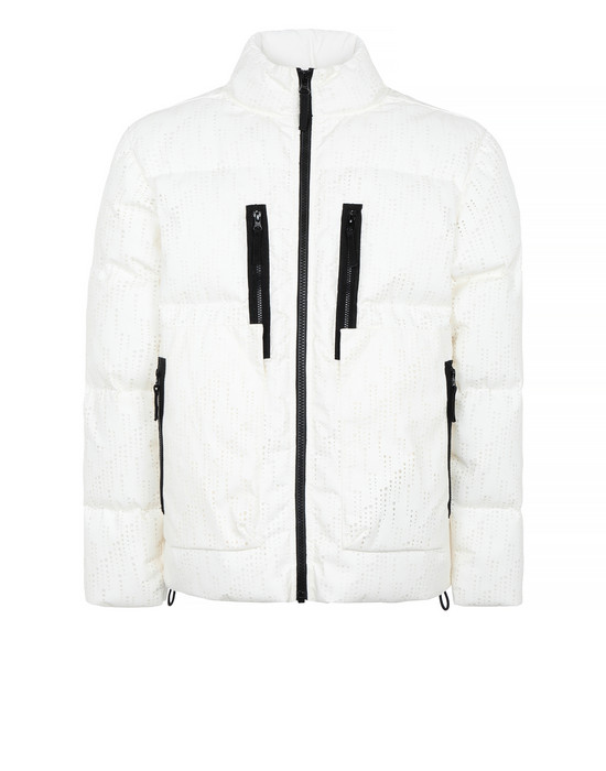 STONE ISLAND SHADOW PROJECT 40504 DOWN JACKET Mid-length jacket Man Natural White