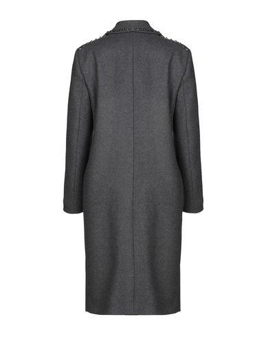 Фото 2 - Женское пальто или плащ  серого цвета