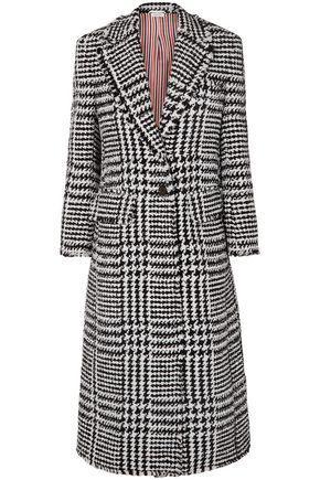 THOM BROWNE Houndstooth wool-blend coat