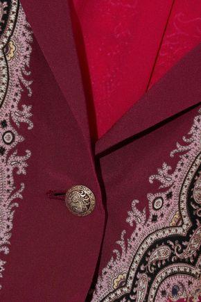 ETRO Printed washed-silk blazer