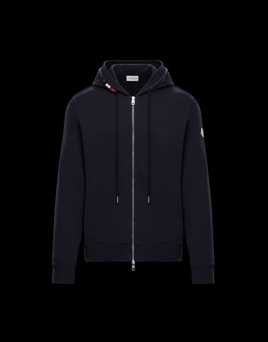 CARDIGAN Dark blue Category HOODED SWEATSHIRTS Man