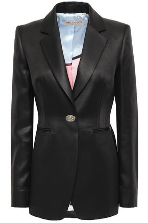 EMILIO PUCCI Wool and silk-blend satin blazer