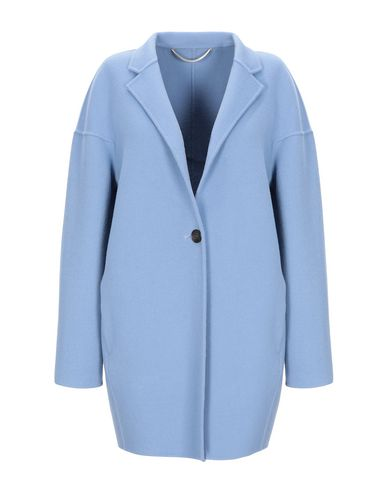 Купить Женское пальто или плащ  небесно-голубого цвета